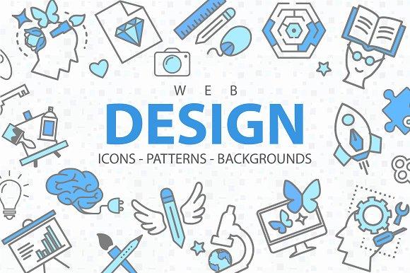 Web Design Icons Set Free Download