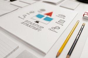 paper plane startup drawing