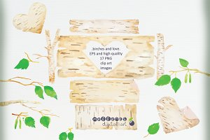 """birches and love"" clip art images"