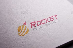 Rocket Globe Logo Template