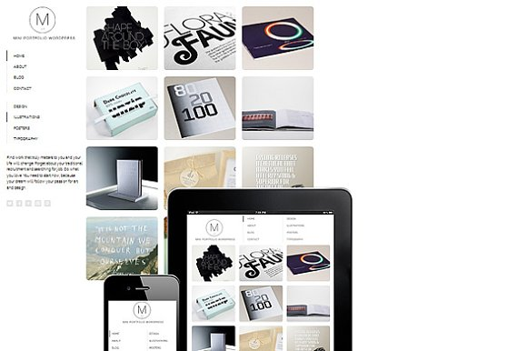 Mini Portfolio WordPress Responsive
