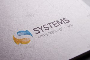 Systems - S Letter Logo Template
