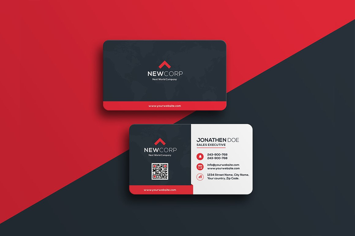 Corporate business card 17 business card templates creative market colourmoves