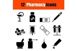 Set of Pharmacy icons