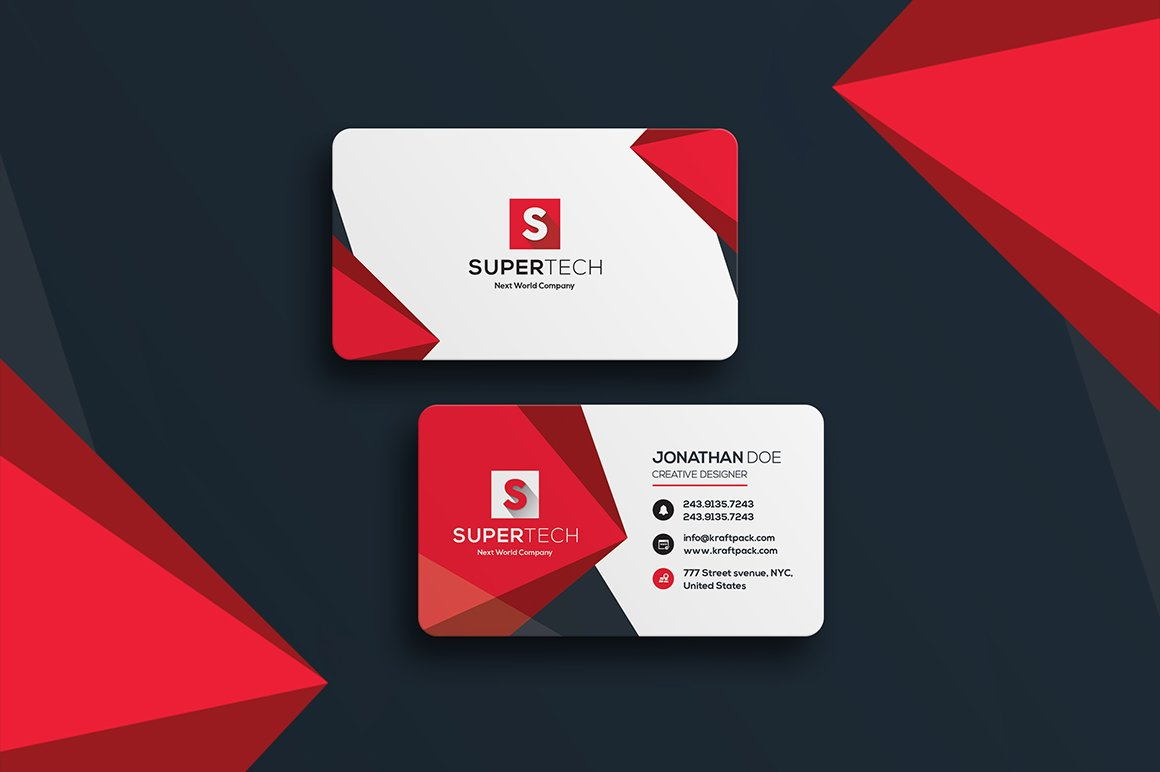 Corporate Business Card #19 ~ Business Card Templates ~ Creative Market