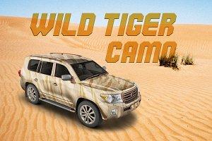 Wild Tiger Camo | Vector