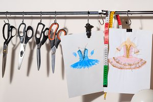 Sketch fashion designer clothing