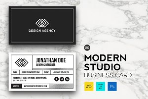 Modern Studio Business card #20
