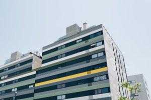 Modern housing building