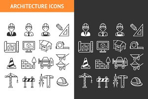Architecture Construction Icons set