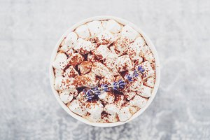 Lavender and marshmallow coffee