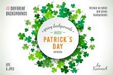 Set of St Patrick's Day backgrounds