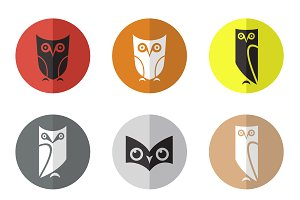 Vector group of owl in the circle