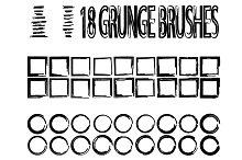 Set of grunge brushes and frames