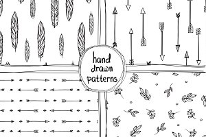 4 Hand Drawn Patterns