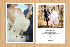 Wedding Thank You Card-V242