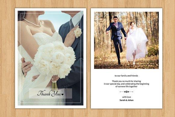 Wedding Thank You Card-V242 ~ Flyer Templates ~ Creative Market