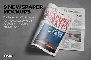 Tabloid Size Newspaper Mockups Vol.8