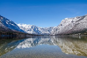 Bohinj lake reflection