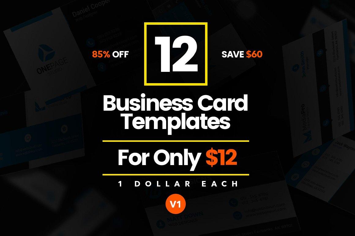 12 Modern Business Cards - Bundle v1 ~ Business Card Templates ...