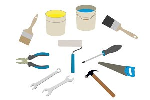 Building  tools clipart set