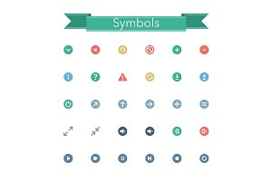 Symbols Flat Icons