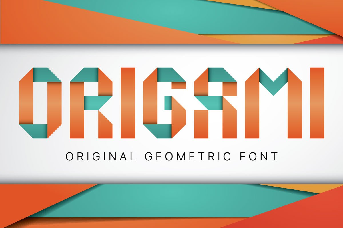 Origami Geometric Typeface Display Fonts Creative Market