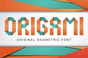 Origami geometric typeface