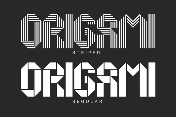 Origami Geometric Typeface Display Fonts Creative Market