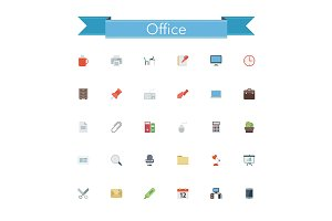 Office Flat Icons