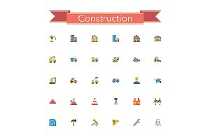 Construction Flat Icons