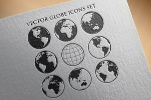 Vector world globe icons set