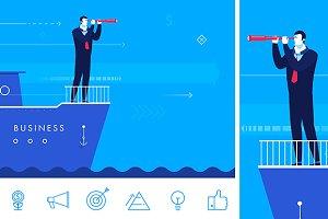 Business leader (bonus 6 icons)