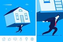 Mortgage. Debts. (bonus 6 icons)