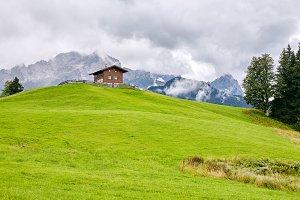 Peaceful alpine landscape