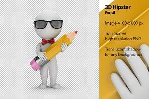 3D Hipster - Pencil