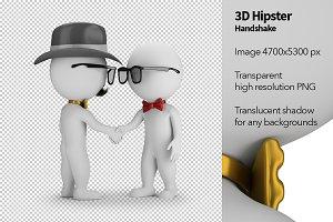 3D Hipster - Handshake