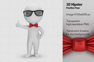 3D Hipster - Positive Pose