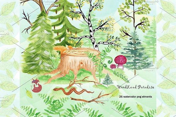 WoodLand Paradise 26 png elements