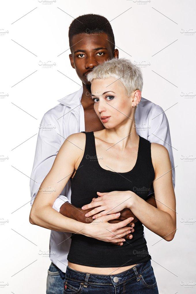 Interracial love. Multiracial couple - People