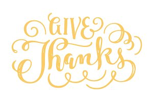 Give Thanks Handlettered Overlay