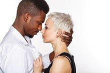 Interracial love. Passion