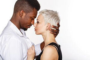 Interracial love. Passion