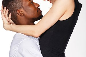 Interracial love. Desire