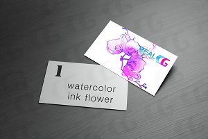ink watercolor flower background