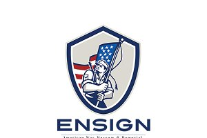 Ensign War Memorial and Museum Logo