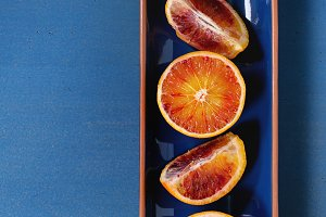 Blood orange fruit