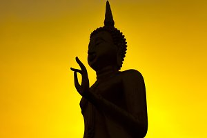 Silhouette image of buddha