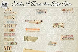 Washi Tape Layered Vintage