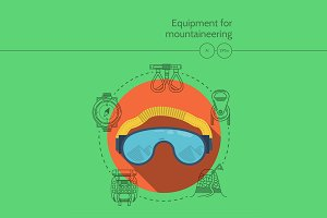 Mountaineering equipment. Goggles